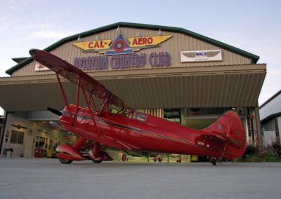 Red Biplane at Cal Aero Aviation Club
