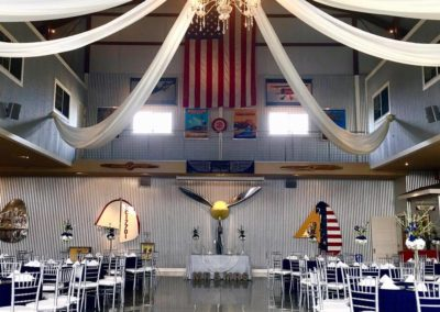 Wedding Setup Inside Hangar - Chairs and Tables