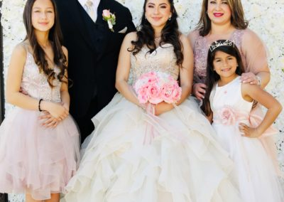 Quinceanera Event Venue Family Photo