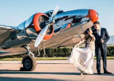 cal aero wedding events in airplane hanger