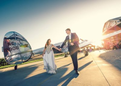 Cal Aero Wedding Wedding Events in Airplane Hanger with Wilot